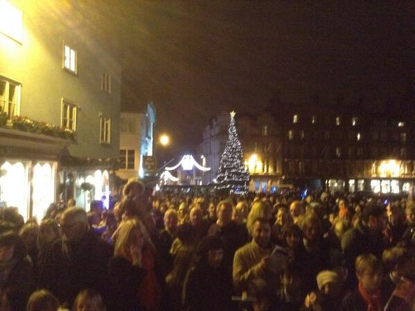 christmas lights turning on Windsor