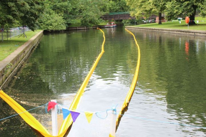 summer fayre duck race finishing line