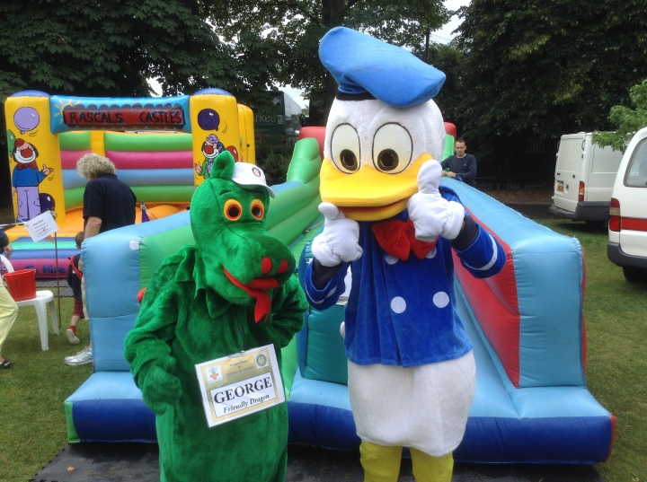 dragon and donal duck