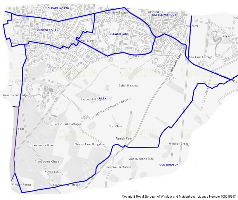 boundary map of park ward windsor