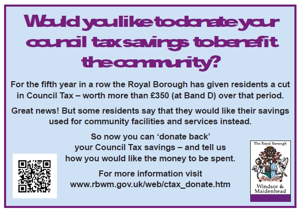 rbwm council tax donate