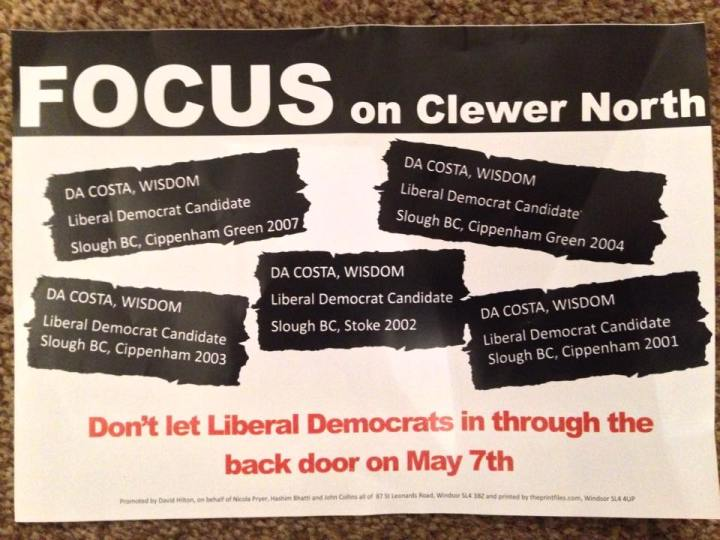 tory focus on clewer north flyer