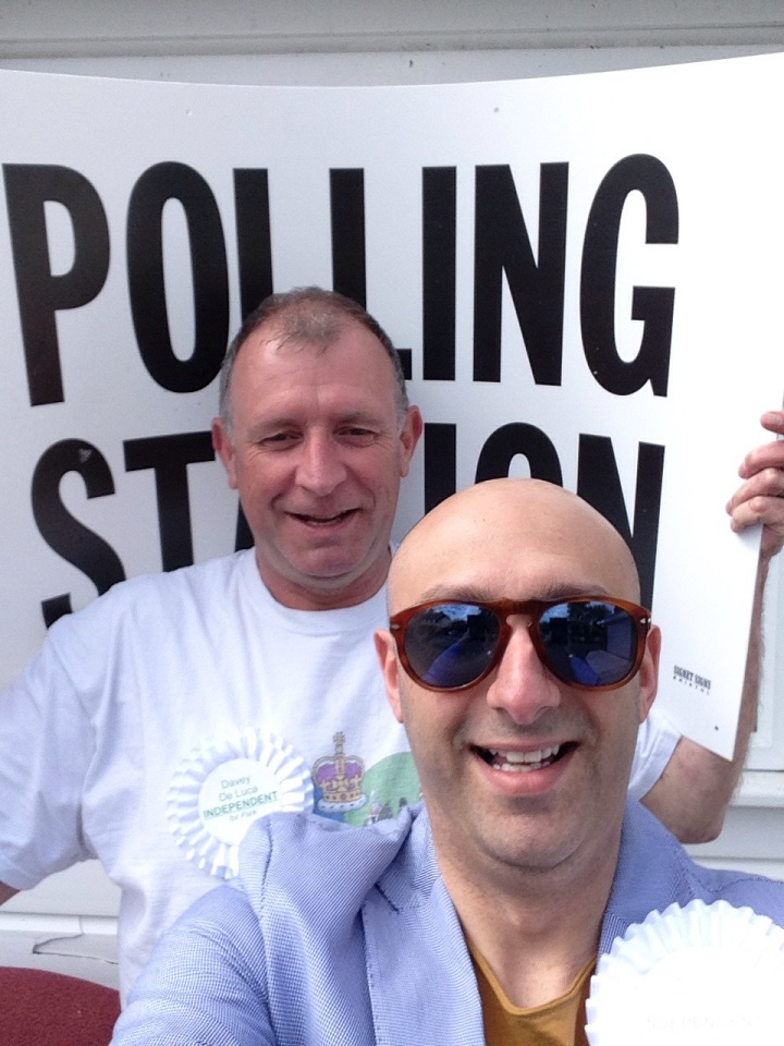 jon davey and wisdom da costa election day