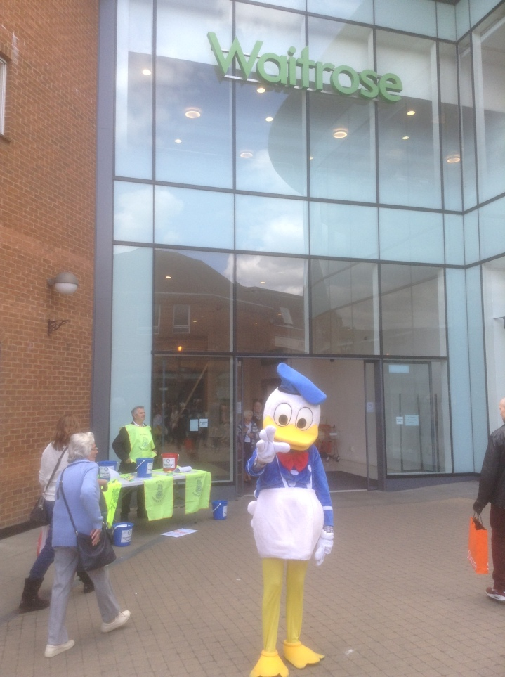 Rotary Duck Race ticket sales Windsor King Edward Court Donald Duck