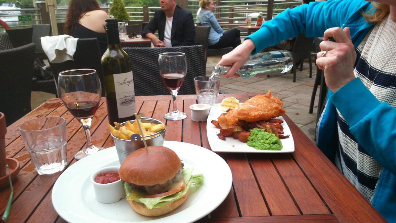 dinner at the ferry cookham