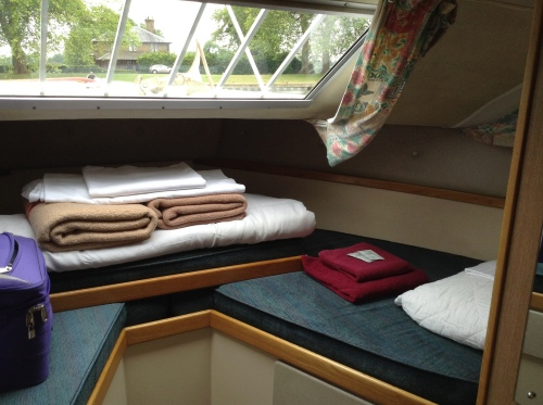 double bed at the front