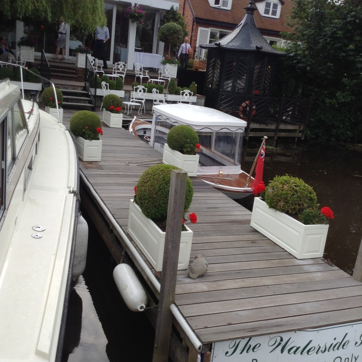 pop into the waterside inn for a drink