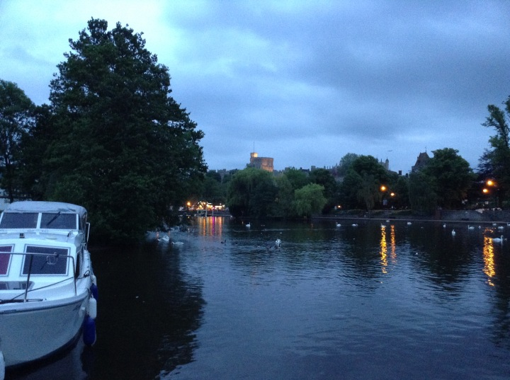 windsor castle from the river lady karen