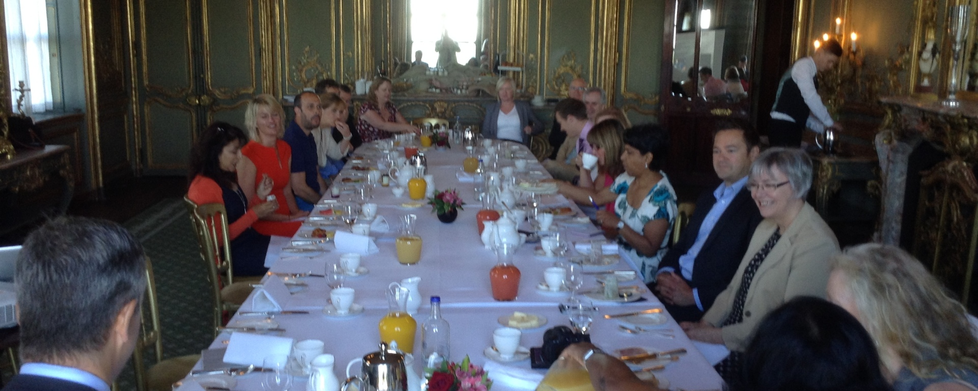 Cliveden House breakfast networking