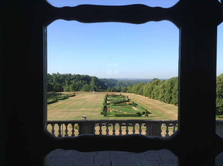 cliveden house window onto garden