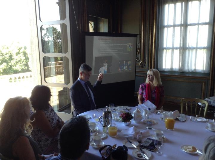 David Clarke explains spacial awareness Twenties Cliveden House