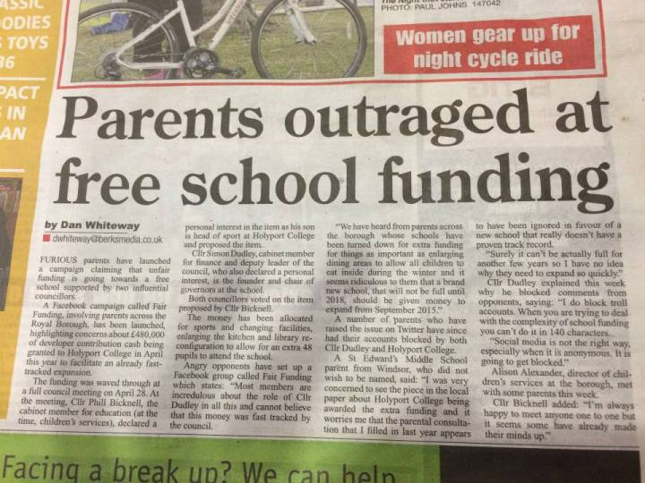 funding for holyport college