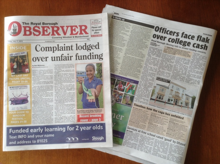 hold the front page holyport college