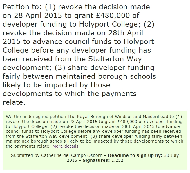 rbwm petition