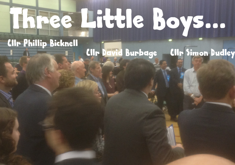 three little boys rbwm council leaders at elections 2015