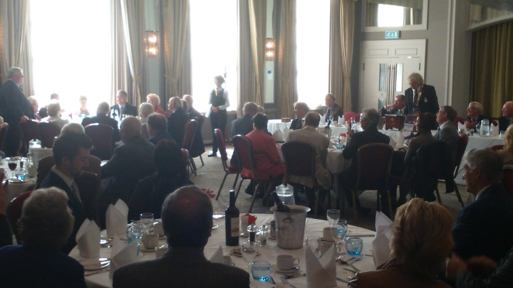 Chris Clark 50 years full turn out for lunch