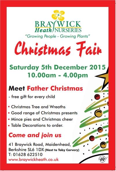 braywick heath nurseries christmas fair