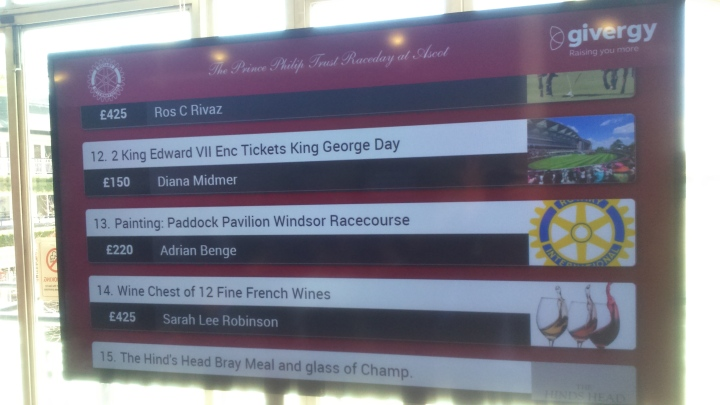 Prince Philip Trust Fund Race Day silent auction