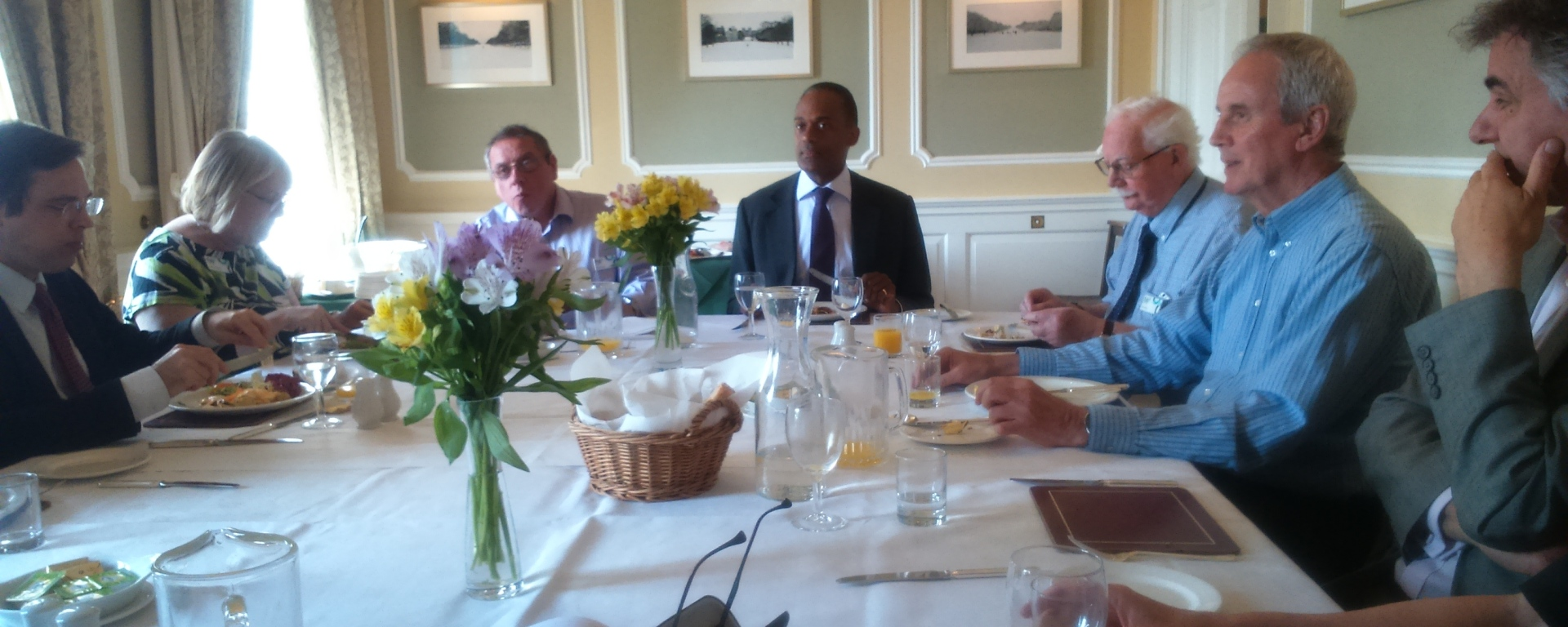 adam afriyie mp lunch cumberland lodge