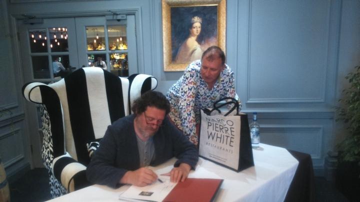 marco pierre white jon davey book signing
