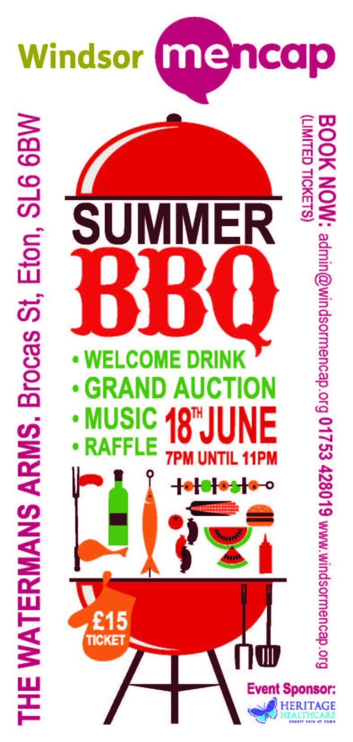 mencap bbq june 18th windsor
