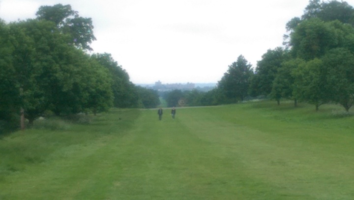 windsor great park castle from near the village