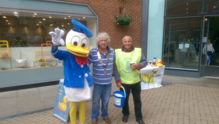 duck race windsor and eton rotary donald paul and lawrence