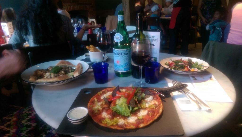 Pizza Express Windsor dinner is served