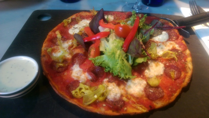 Pizza Express Windsor leggera american hot pizza