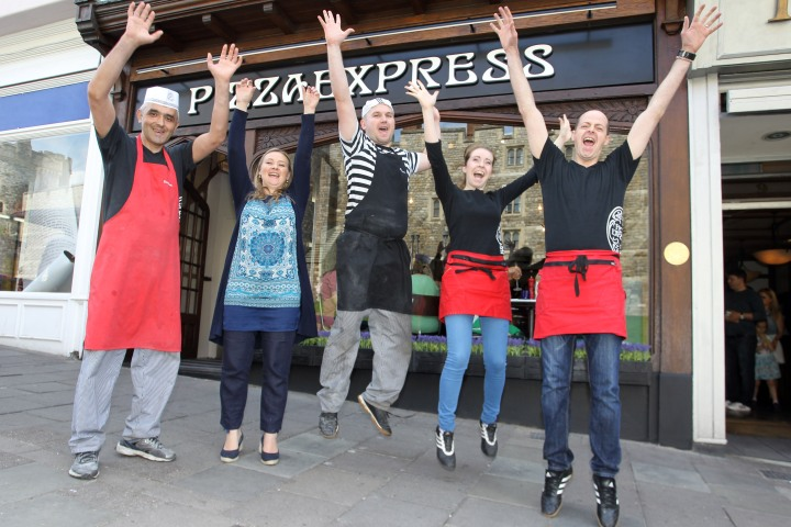 Pizza Express Windsor team
