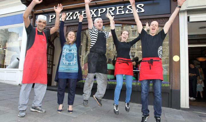 Pizza Express Windsor team