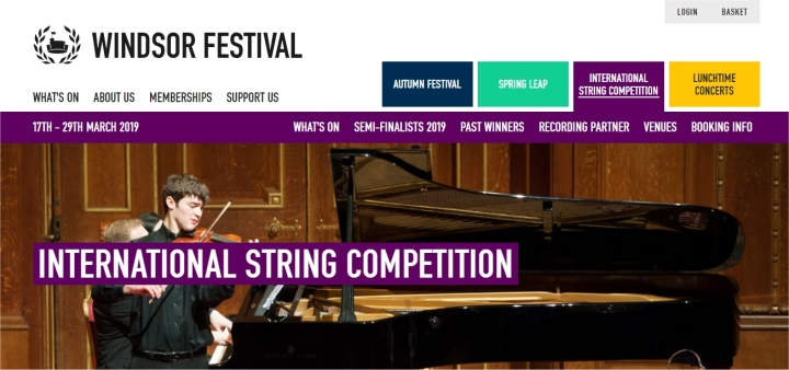 windsor festival international string competition