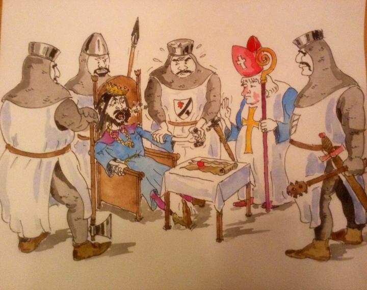 king john seals the magna carta