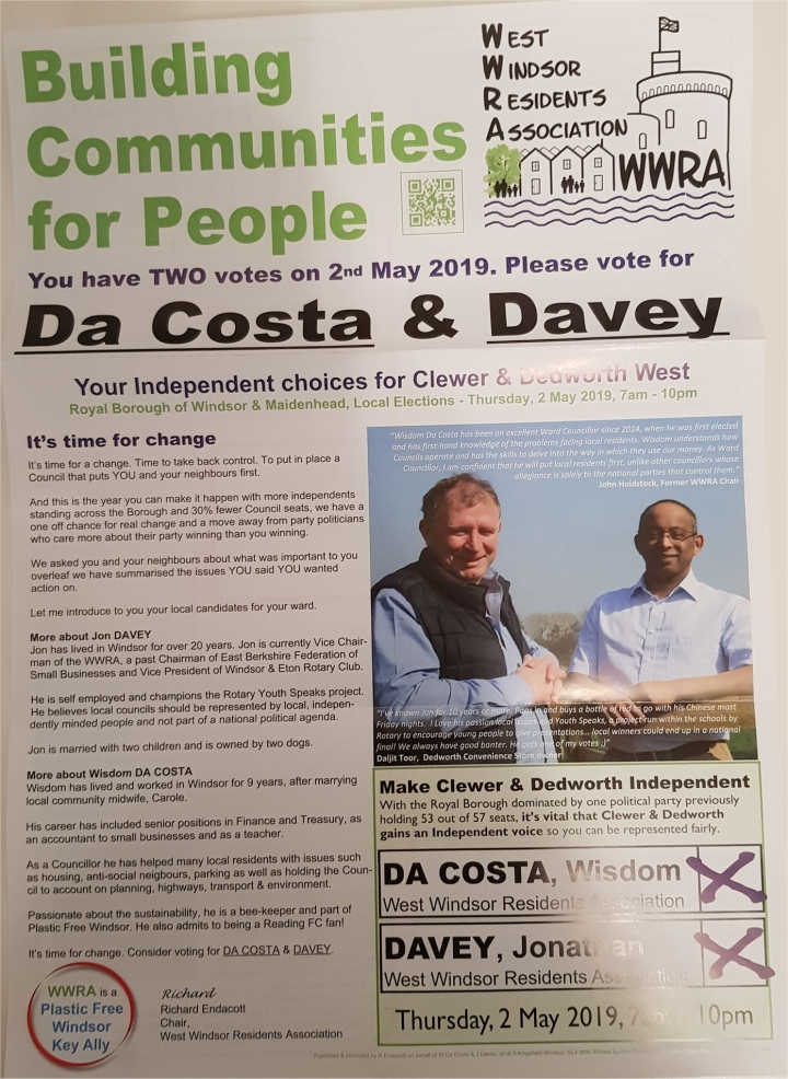 page 1 of rbwm election flyer