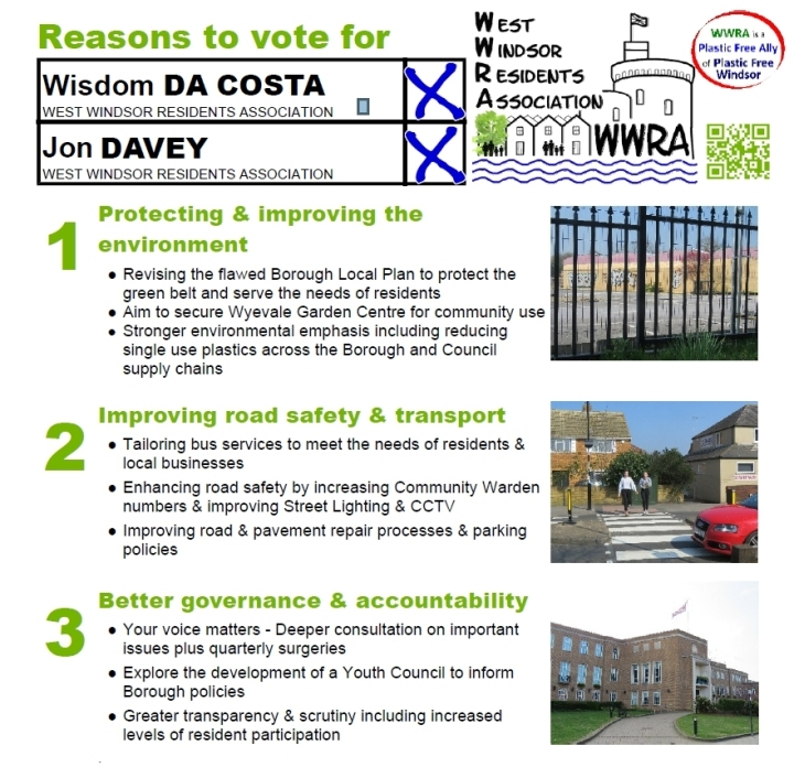 reasons to vote Wisdom Da Costa and Jon Davey