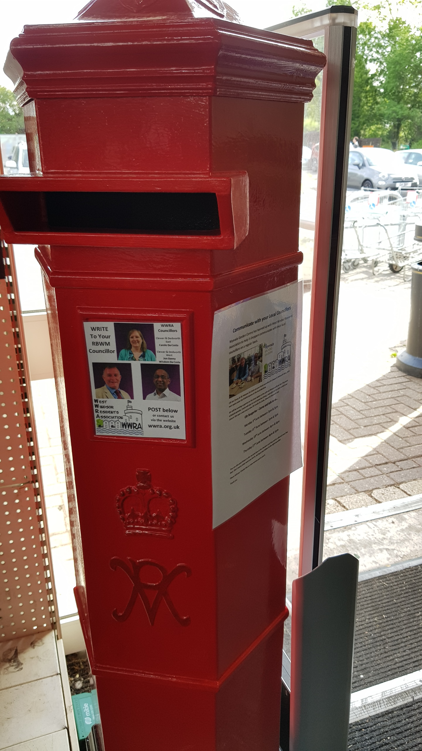 wyevale wwra post box