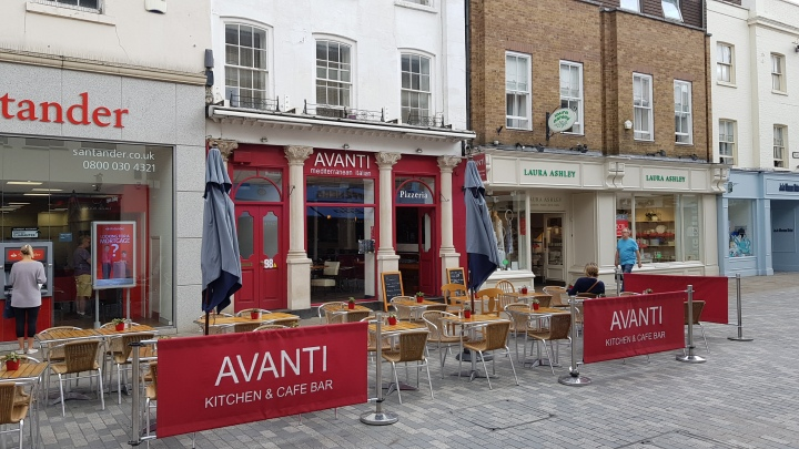 avanti changing shop front