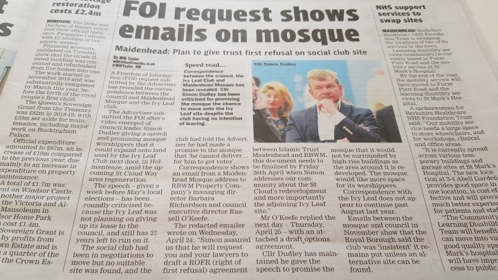 FOI on Mosque - 280619