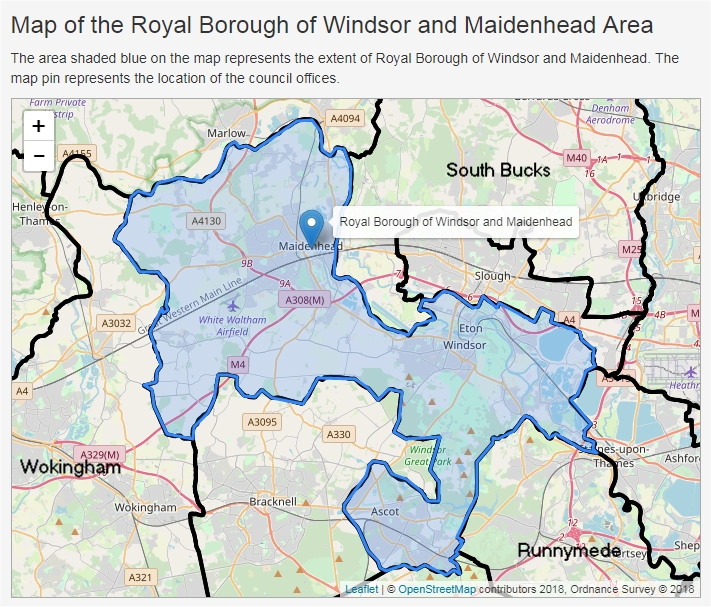 map of windsor and eton the boundary