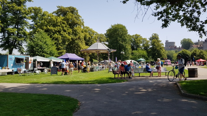 rotary summer fayre food and bandstand