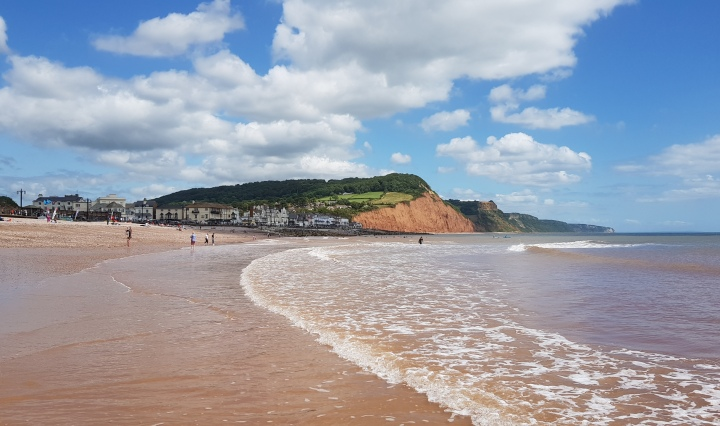 sidmouth tide out july