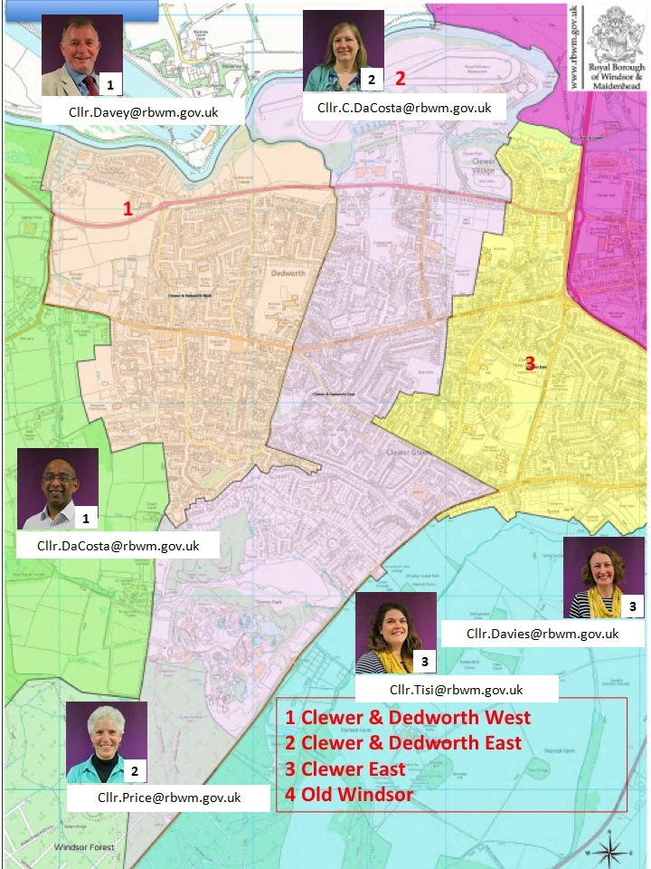RBWM West Windsor Wards 2019-23 Councillors