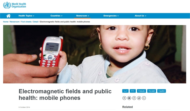 who emf mobile phones