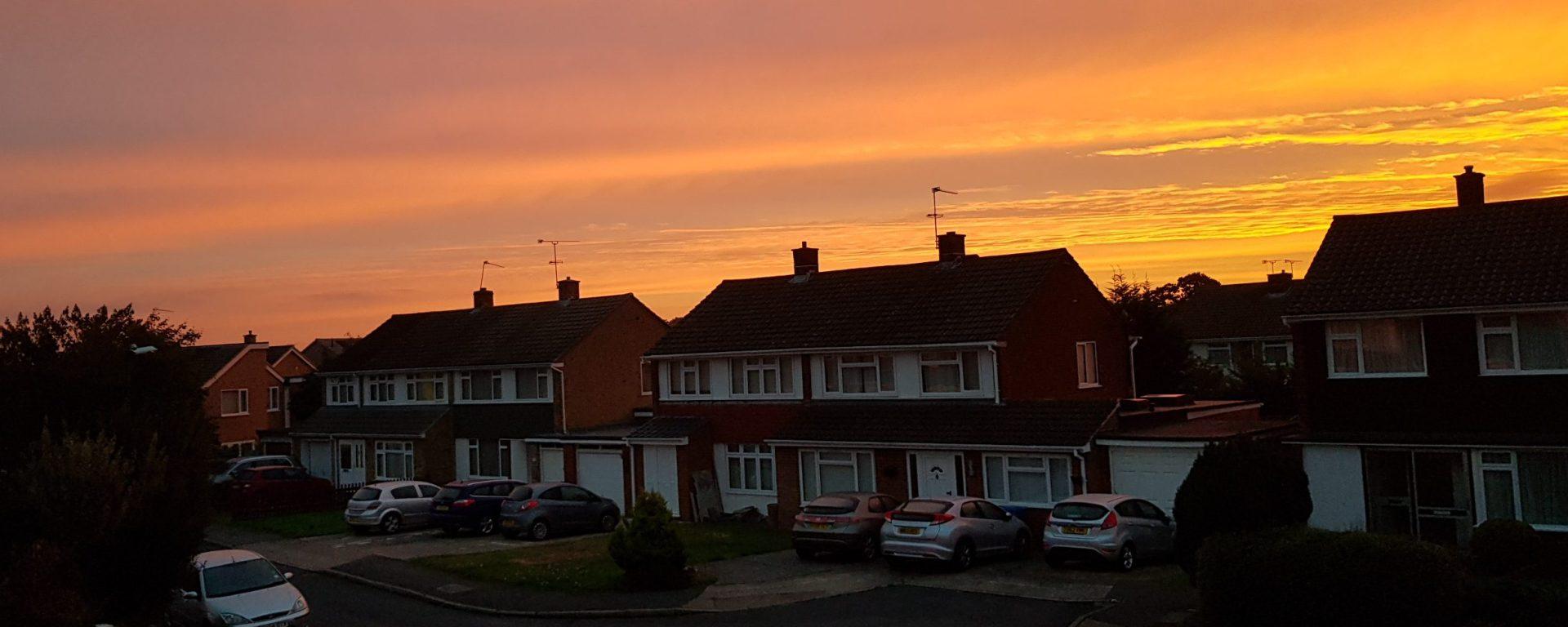 sunrise over dedworth