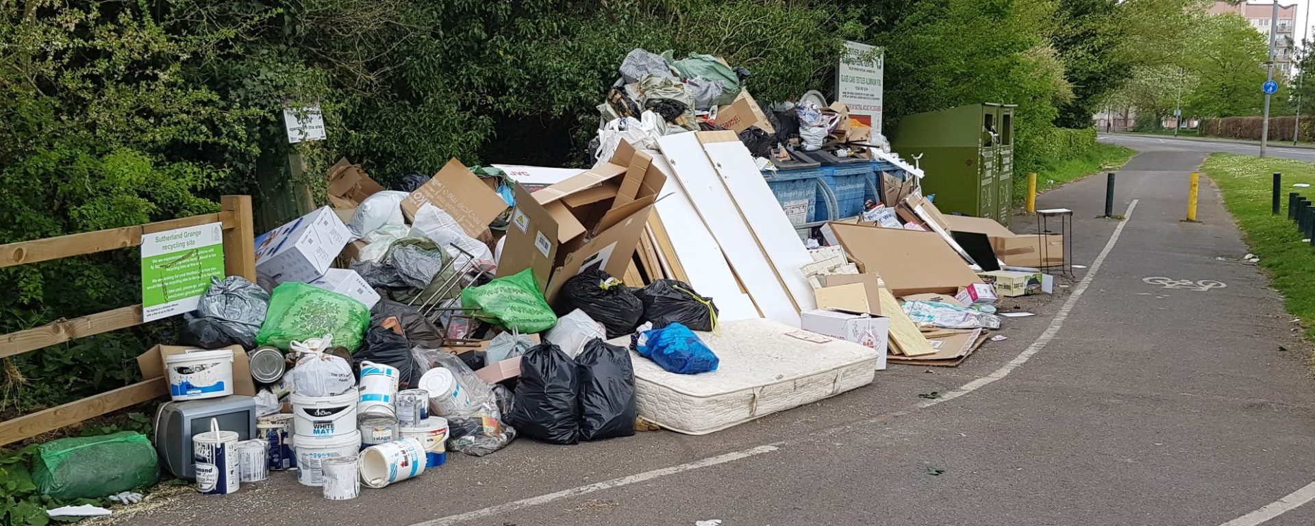 fly tipping sutherland grange covid-19