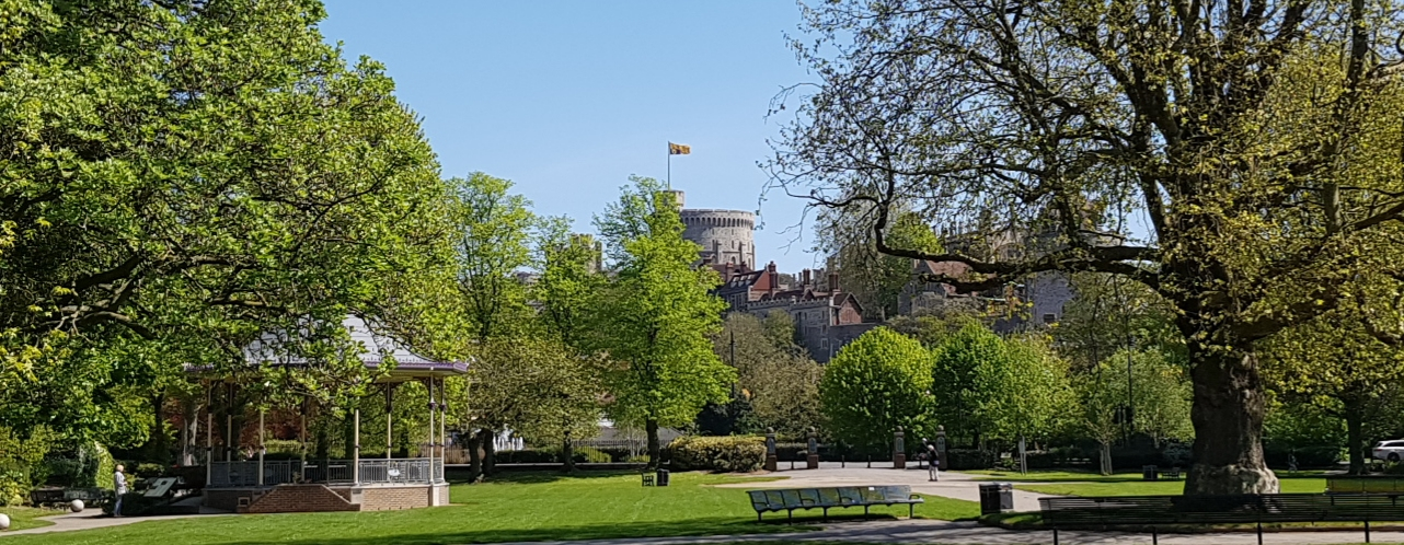 windsor castle from alexandra gardens