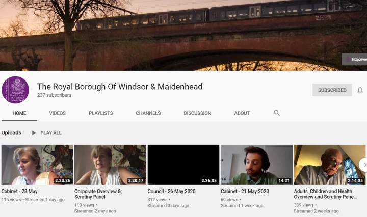 council youtube page