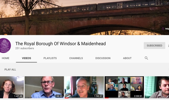 RBWM YOUTUBE CHANNEL FRONT PAGE