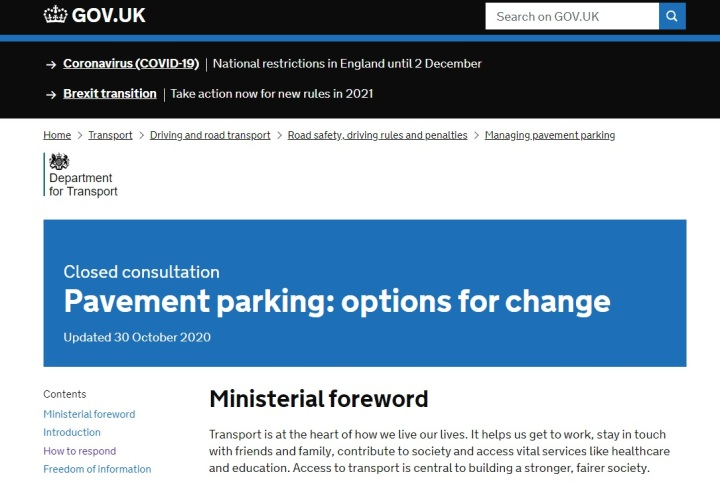 pavement parking consultation