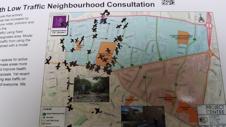signage map RBWM Low Traffic Neighbourhood pic